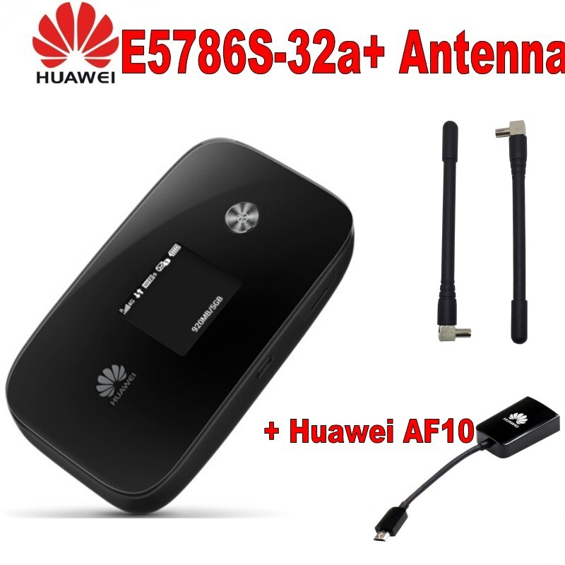 HUAWEI E5786s 32 Hotspot Portable Domino LTE 4G CAT 6 300Mbit s plus antenna and huawei