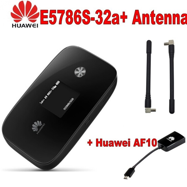 HUAWEI E5786s-32 Hotspot Portable Domino LTE 4G+ CAT 6 300Mbit/s  plus  antenna and huawei AF10