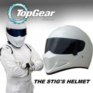 For Top Gear STIG Helmet Casco De Motocicleta with Black Visor Capacete as  SIMPSON 889be06a433