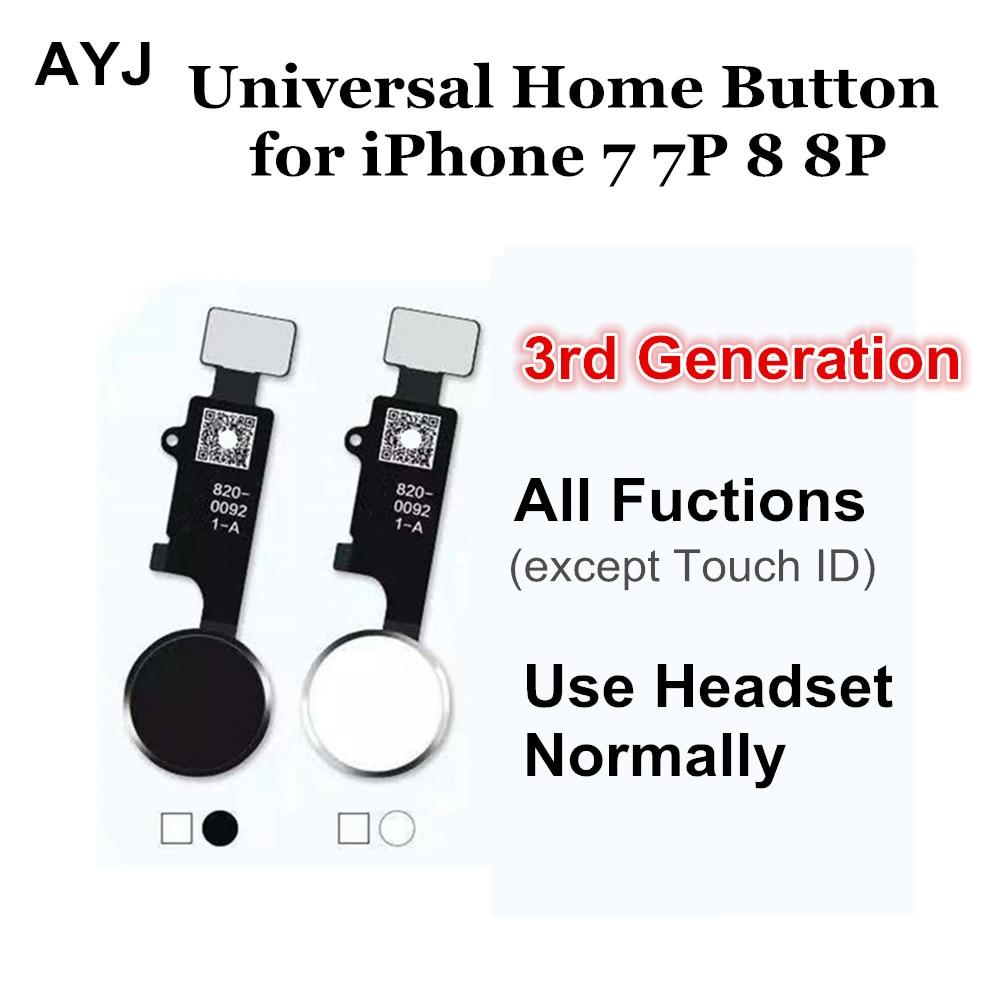 AYJ Universal Home Bouton Flex pour iPhone 7 8 Plus Retour Accueil Fonction Solution 3rd Génération Noir Blanc or rose Or couleur