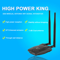 New High Power 3000mW Aerial USB Wireless Network Card Wifi Adapter Receiver Long Range Dual Wifi