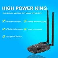 New High Power 3000mW Aerial USB Wireless Network Card Wifi Adapter Receiver Long Range Dual Wifi