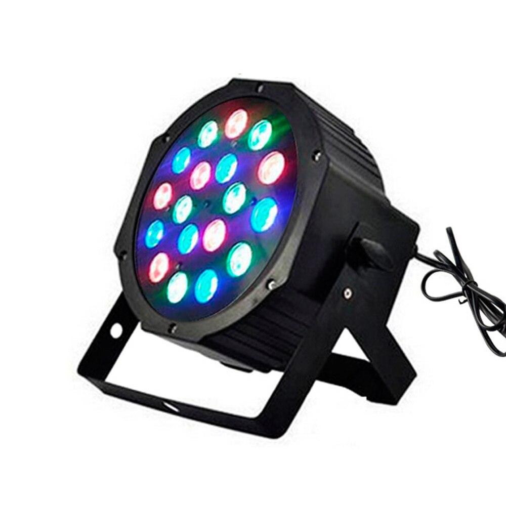 HOT BIg stage light 18x2W 36W High Power RGB Par Light With DMX512 Master Slave Led Flat DJ Equipments Controller,Free shipping