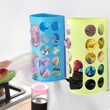 Высококачественный пластиковый ящик для хранения, органайзер, мешки для мусора, коробка для сбора, Синий Твердый органайзер для уборки, чехол, контейнеры, Новинка