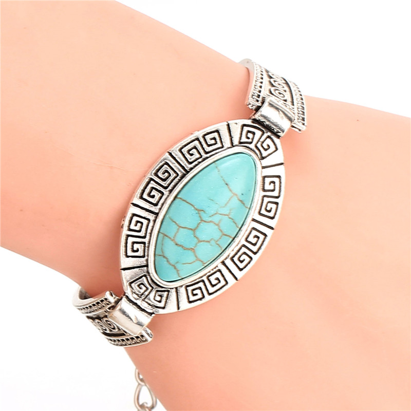 Boho Bohemian Gypsy Cheap Fashion Jewelry Tibetan Sliver Color Charm Bangle bracelet for men womem