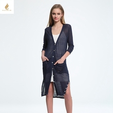 New summer Long knitted Cardigan Fashion women s clothing slim thin Long sleeve Air conditioning shirt