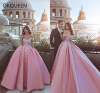 Quinceanera Dresses 2019 Satin Ball Gown Dubai Saudi Arabic vestido de 15 anos debutante Sweet 16 Dress ballkleid Off Shoulder