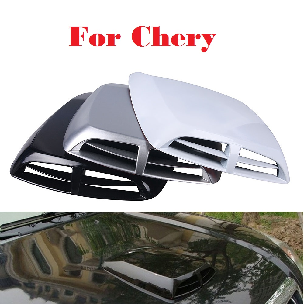 New Car Stickers Scoop Turbo Bonnet Vent Cover Hood Decorate For Chery Amulet Arrizo 7 Bonus CrossEastar Eastar For a IndiS Kimo 2017 side bonnet cover for mitsubishi l200 triton bonnet hood cover for mitsubishi 2016 for ycsunz