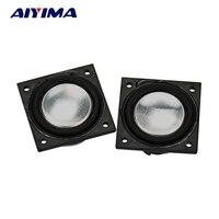 AIYIMA 2 Pcs Full Range Alto-falantes 4Ohm 2 W Lado PU Material 28 MM Praça Áudio Mini Portátil Ímã Duplo falante