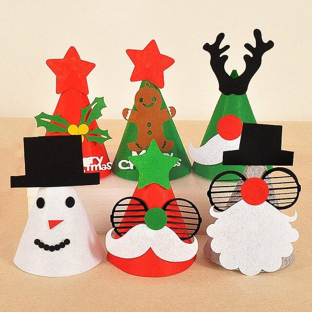 1PC Christmas Hats Caps For Adult Children Kids Christmas Decorations  Cartoon Snowman Santa Claus Hat Party Supplies f29a865fc23