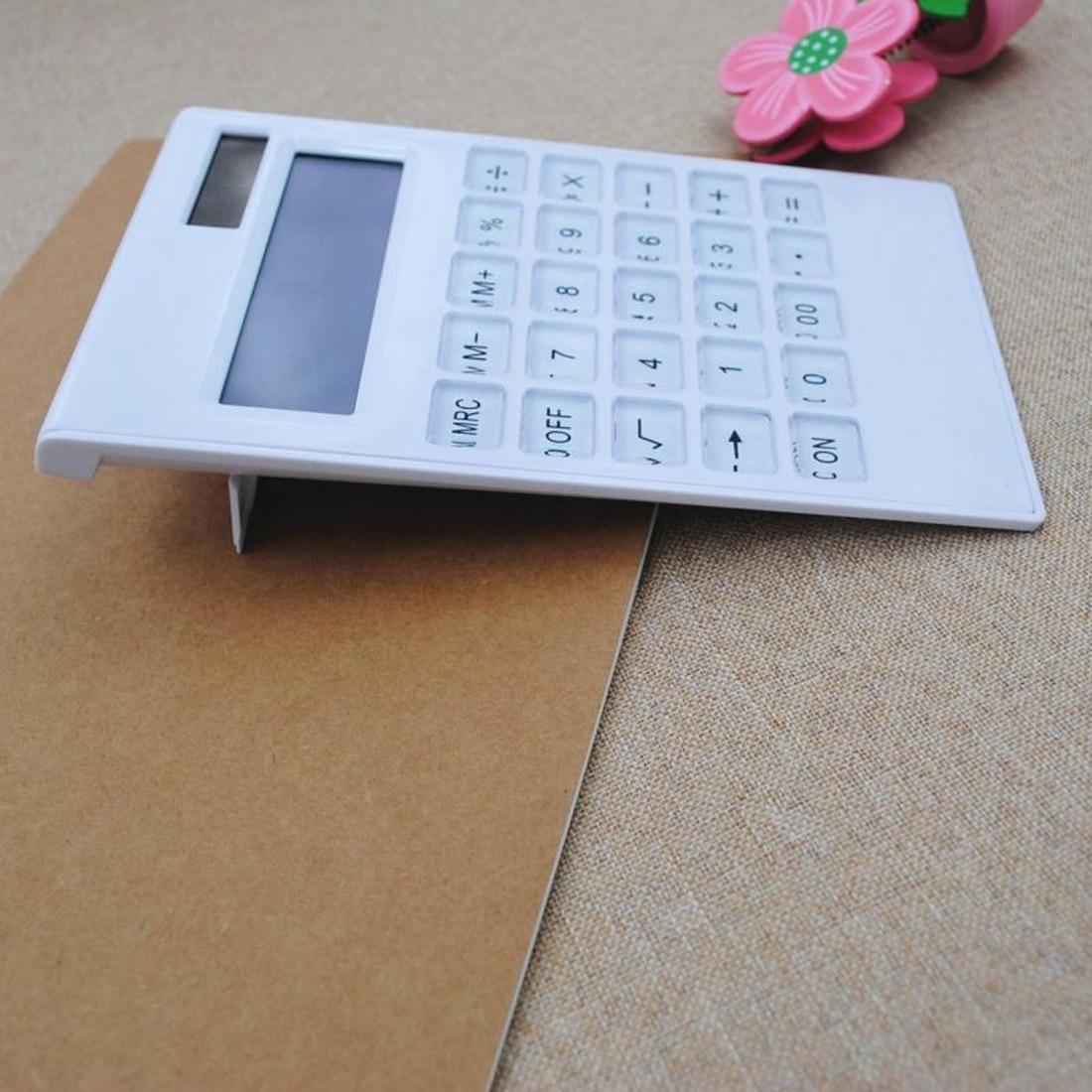 NOYOKERE Venta caliente creativo delgado portátil mini 12 calculadora digital energía Solar cristal teclado doble fuente de alimentación