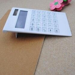 NOYOKERE Heißer Verkauf Kreative Schlanke Tragbare mini 12 digital Rechner Solar Energie Kristall Tastatur Dual Power Versorgung
