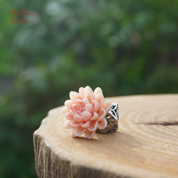 Perles de cinabre de haute qualité Lotus rose en pleine floraison perles de Mala en vrac Bracelet de Mala Japa résultats de bijoux accessoires de bricolage