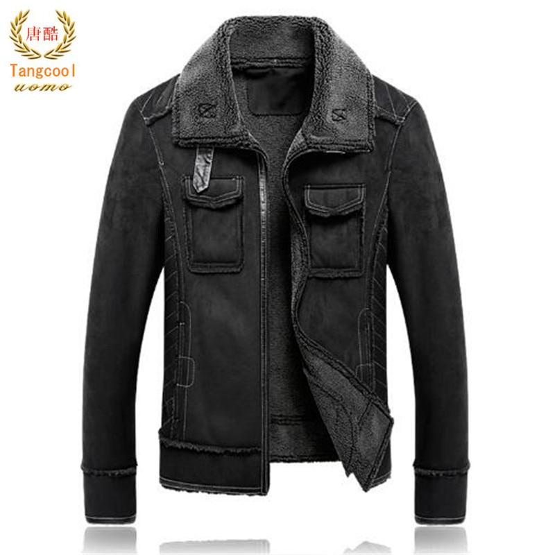 Tang cool 2018 winter fur one imitation Lamb Leather Suede fur size deer skin Plush jacket winter mens clothing