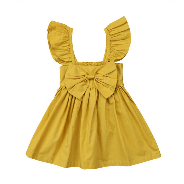 e47851d8ec6a Cute Newborn Kids Baby Girl Dresses Clothing Sleeveless Ruffle ...