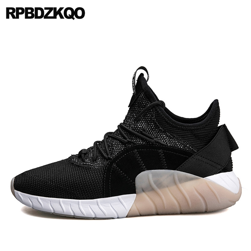 High Top Sneakers Lightweight Flats Black Comfort Casual Trainers 2017 Fashion Shoes Walking Elevator Popular Spring Autumn Hot