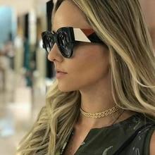 ROYAL GIRL Trendy Square Sunglasses Women Brand Design 2019 Retro Oversize Black White Shades Unisex Sun Glasses Men UV400 ss979