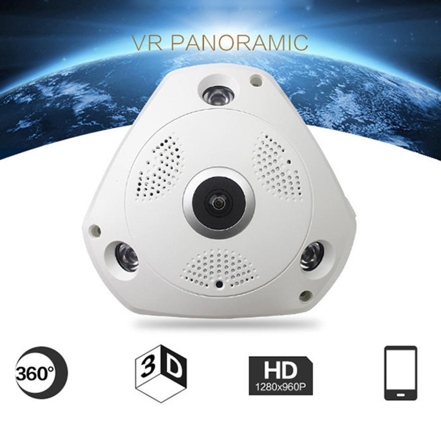 New 360 Degree Panoramic Wireless Home Security Surveillance IP Camera Audio Video WiFi 18Mar01 Drop Ship F