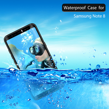 Note8 Waterproof Case for Samsung Galaxy note 8 Cover 360 Full Protect Coque Samsung Note 8 Case for Galaxy Note 8 Swimming case
