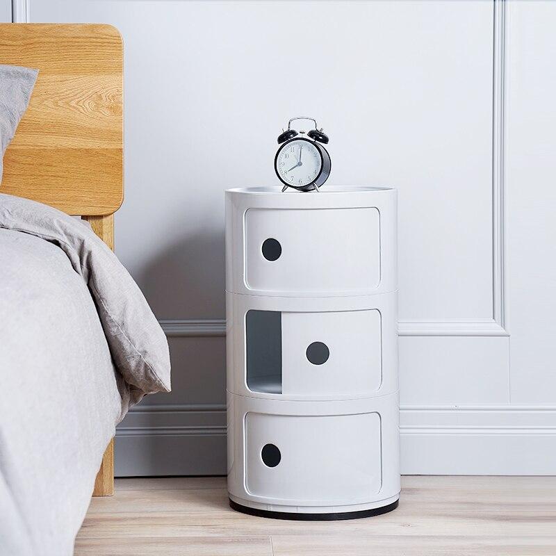 Bedroom Furniture Nightstand Minimalist Modern 3 Round