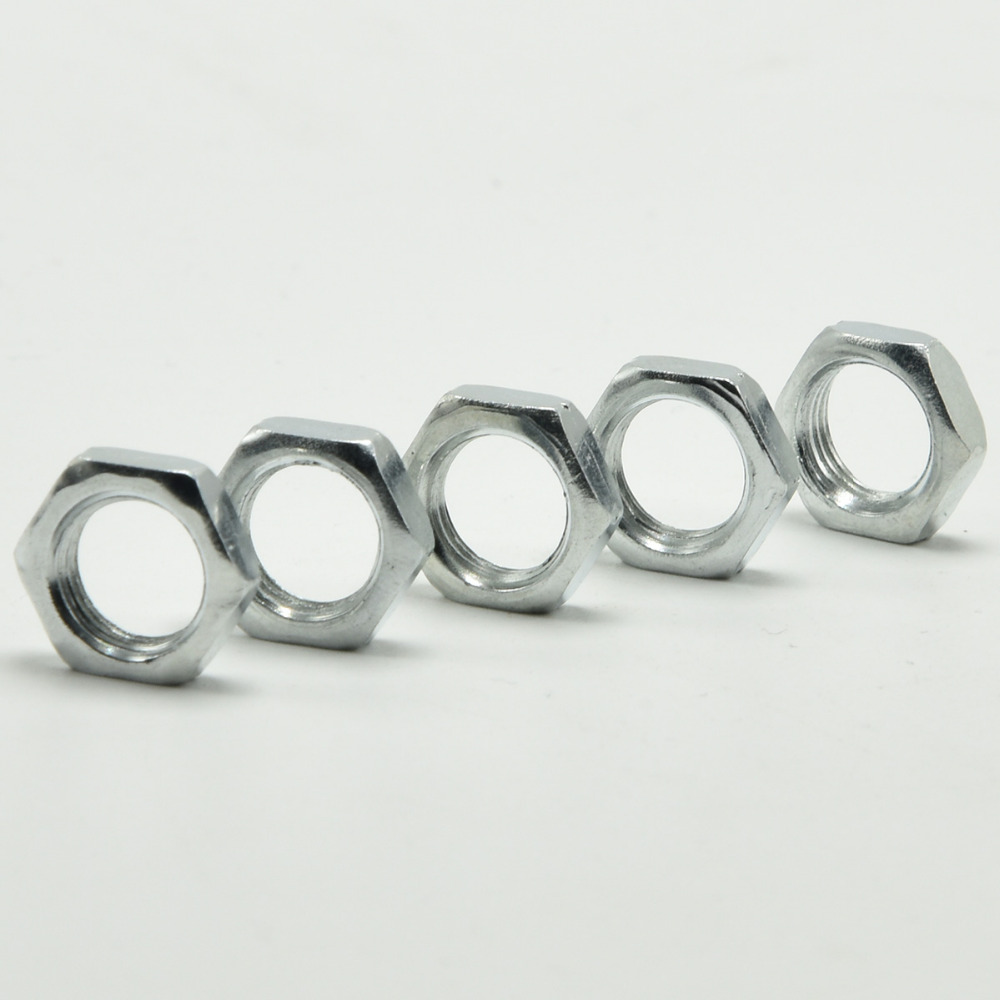 100PCS M10 Nuts Lamp Fastening Nuts 3/4/5/6/7MM Thickness Zinc Alloy ...