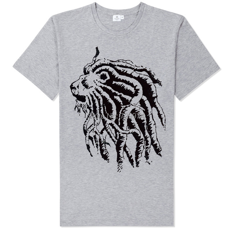 bob marley africa lion rastalocks long braids fashion tee shirt ...