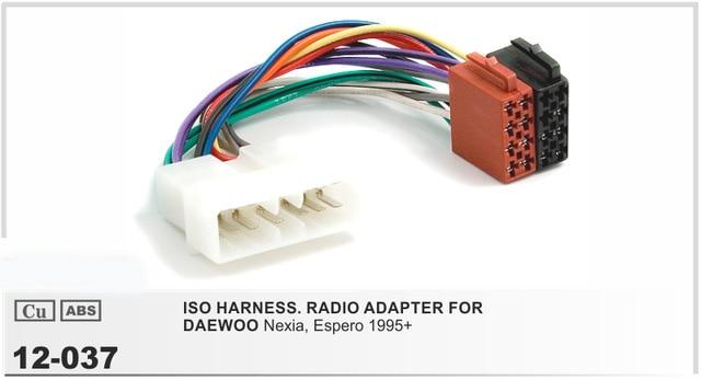 car iso radio wiring harness for daewoo nexia espero 1995 ... toyota car stereo wiring harness adapter impreza cd radio stereo wiring harness adapter lead loom
