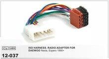 Rádio do carro ISO Cablagem Para Daewoo Nexia espero 1995 + Adaptador de Conector Auto Estéreo Adaptador Chumbo Loom Cable Plug fio