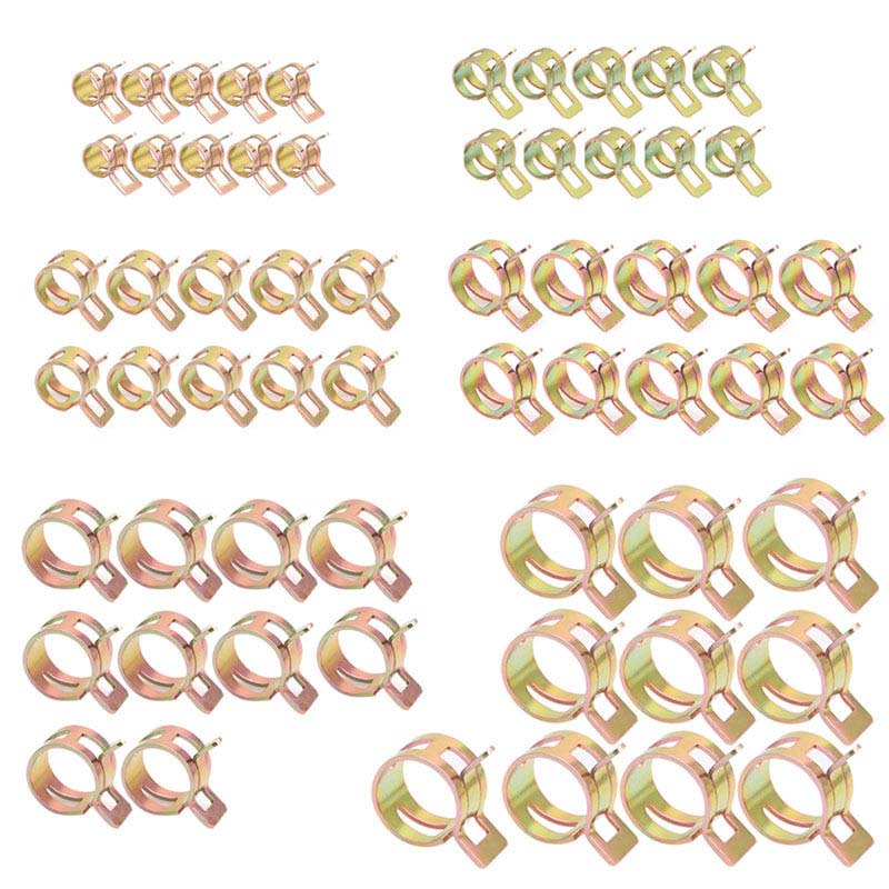 60Pcs/Kit brand new iron Spring Clips Fuel Oil Water Hose Clip Pipe Tube Clamp high quality Hose Clips Accessories|Auto Fastener & Clip| |  - title=