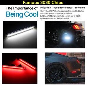 Image 2 - IJDM Cho Xe Mustang LED Phía Sau Dấu Đèn Với 96 SMD 4014 Đèn LED Dành Cho 2015 2017 Ford Mustang Trắng đỏ 12V