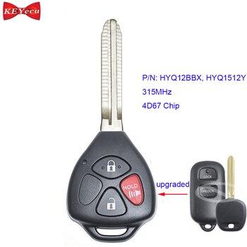 KEYECU для Toyota Celica Echo Highlander Prius RAV-4 усовершенствованный пульт дистанционного управления автомобильный брелок 315 МГц 4D67 чип FCC ID HYQ12BBX