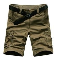 Green Men Short Summer Cargo Men Casual Military High Quality Brand Classic Beach Shorts Plus USA Size W 29-42 44 46