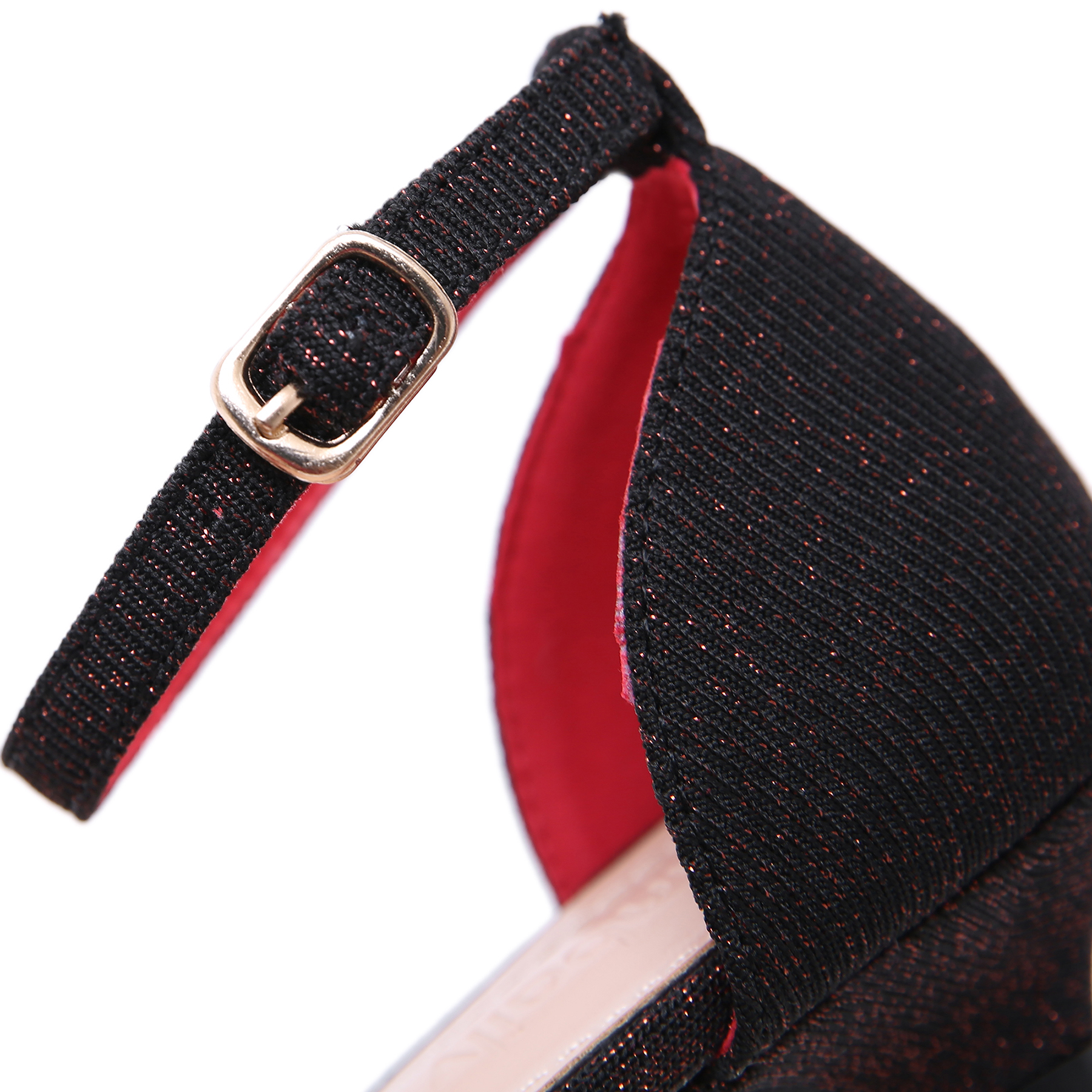 Femme Pompes 2019 Chaussures Mode Bas Rétro 42 Robe Sangle Taille Pointu Talons Cheville La Plus Bout Bling rouge gris Noir Femmes Dongcitaci Party Ol 35 8wx4da4q