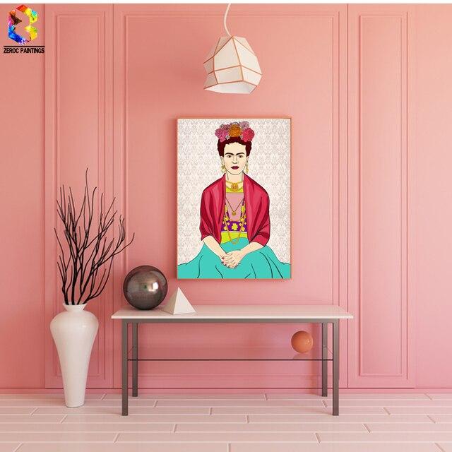 Frida Kahlo Self Portrait Canvas Art Print Poster, Wall Paintings ...