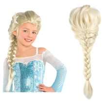 Findpitaya Children Girls Wig Kids Princess Cosplay Party Supply Elsa Anna Braid Mermaid Jasmine Aladdin Moana Hair(China)