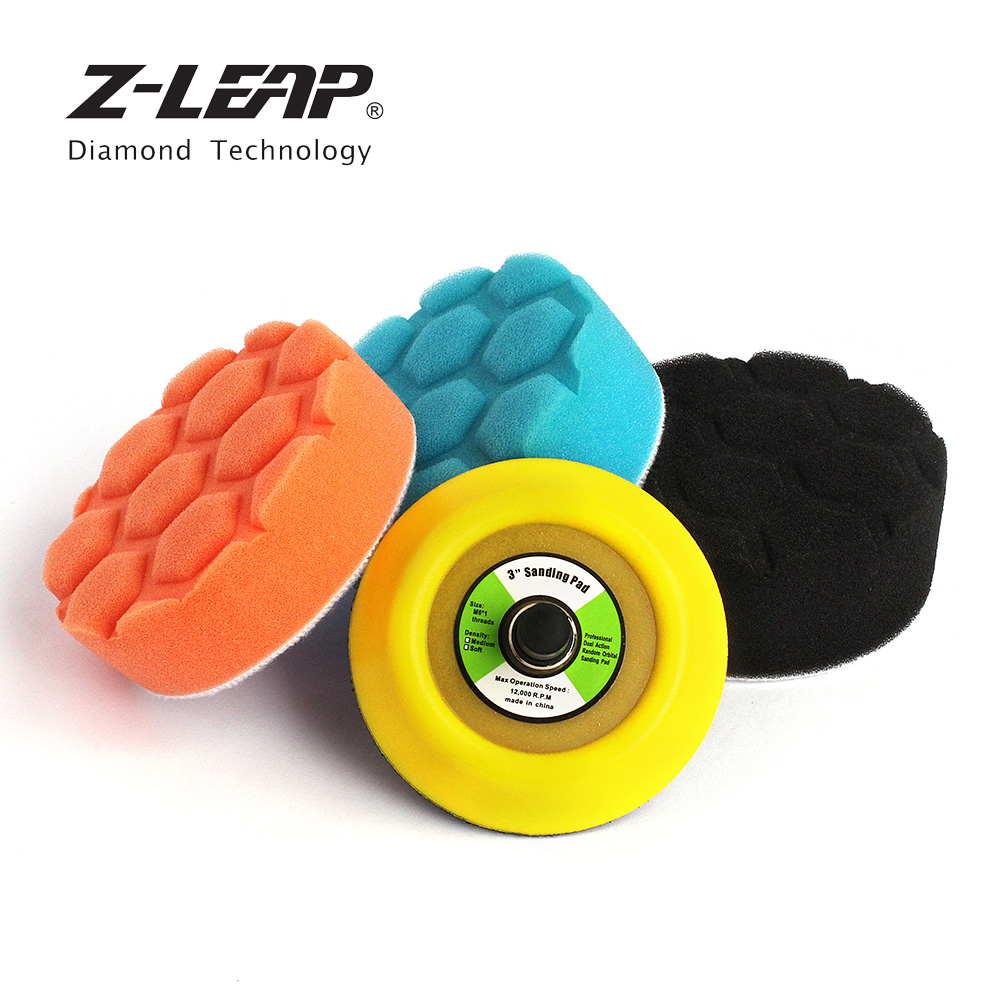 Hand & Power Tool Accessories Z-leap 3/4/5 Inch Car Foam Sponge Polishing Pads With Backing Pad 5/16-24 Thread 4pcs Car Polisher Sanding & Buffing & Waxing Polishing Pads