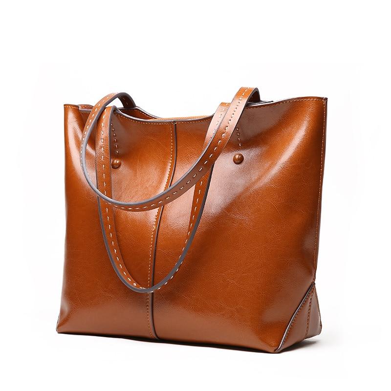 LUODUN2018 Nya läderväskor läder axelväska väska parti - Handväskor - Foto 2