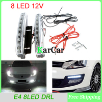 8 LED Super Bright White DRL Car Daytime Running Light Head Lamp Universal Waterproof Day Lights