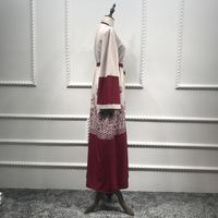 S/M/L/XL/2XL Robe Cotton blends Brand New Lace Shirt Dresses Abaya Kaftan Long Shirt Dresses new hot Women girl