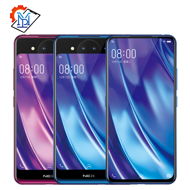 Vivo Nex 2 Dual Display Mobile Phone 6.39 10GB+128GB Snapdragon 845 Octa Core Android 9.0 3D TOF Cameras 3500mAh Smartphone