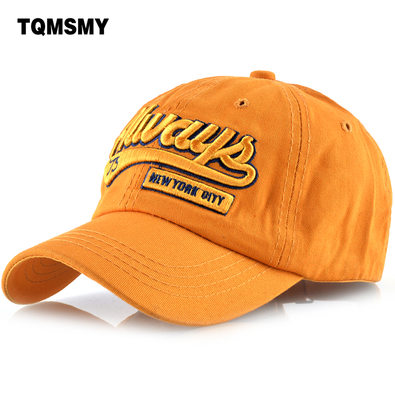 TQMSMY 100% cotton Letter embroidery men baseball cap women casual snapback hat for men Vintage Word Always casquette TMBS72 mens vintage beret hat sailing embroidery washed cotton paper boy cap