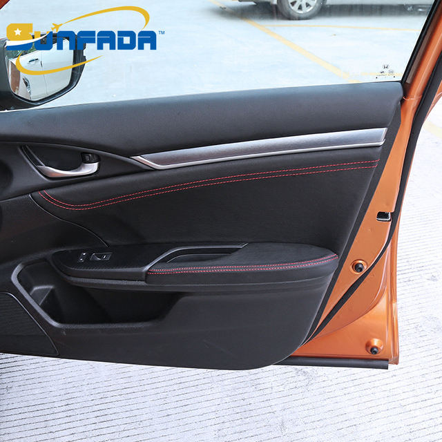 SUNFADA Top Quality Microfiber Leather Inner Door Panel/Armrest Protective Case For HONDA CIVIC 10th & SUNFADA Top Quality Microfiber Leather Inner Door Panel/Armrest ...