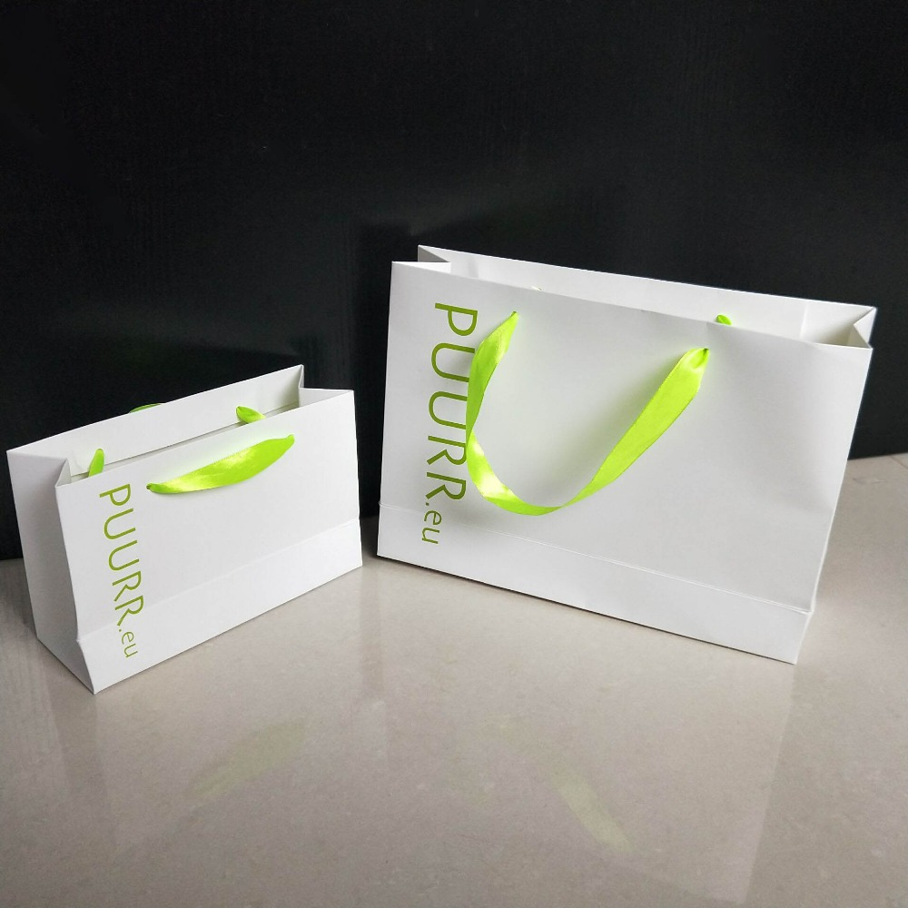 En gros 500 pcs/lot réutilisable boutique cadeau papier sacs impression personnalisée logo de luxe promotion vêtements sacs pour magasins-in Shopping Sacs from Baggages et sacs    1