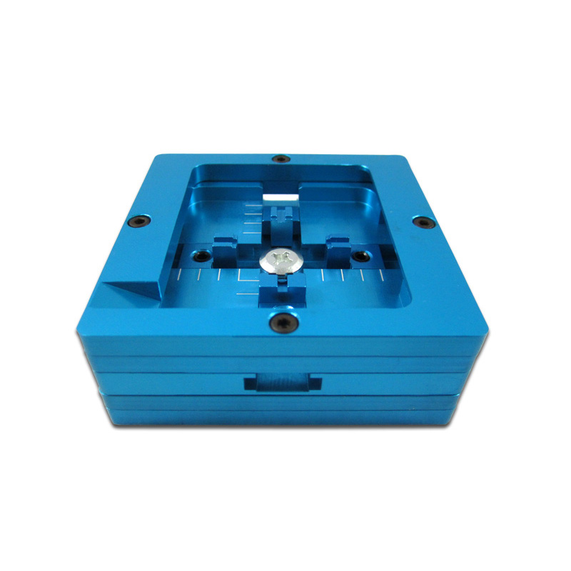 BGA rework machine accessory 80MM dual frame blue bga reballing station plant tables for bga reballing f 204 mobile phone laptop bga rework reballing station hot air gun clamp