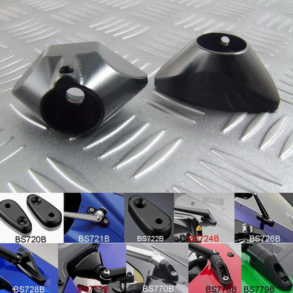 US $19 88 |Motorcycle rearview mirror fairing adapter Conversion Code For  Yamaha R6 2008 2009 2010 2011 2012 2013 2014 2015-in Side Mirrors &