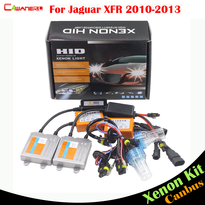 Cawanerl 55W Car No Error HID Xenon Kit AC Canbus Ballast Bulb 3000K-8000K For Jaguar XFR 2010-2013 Auto Headlight Low Beam