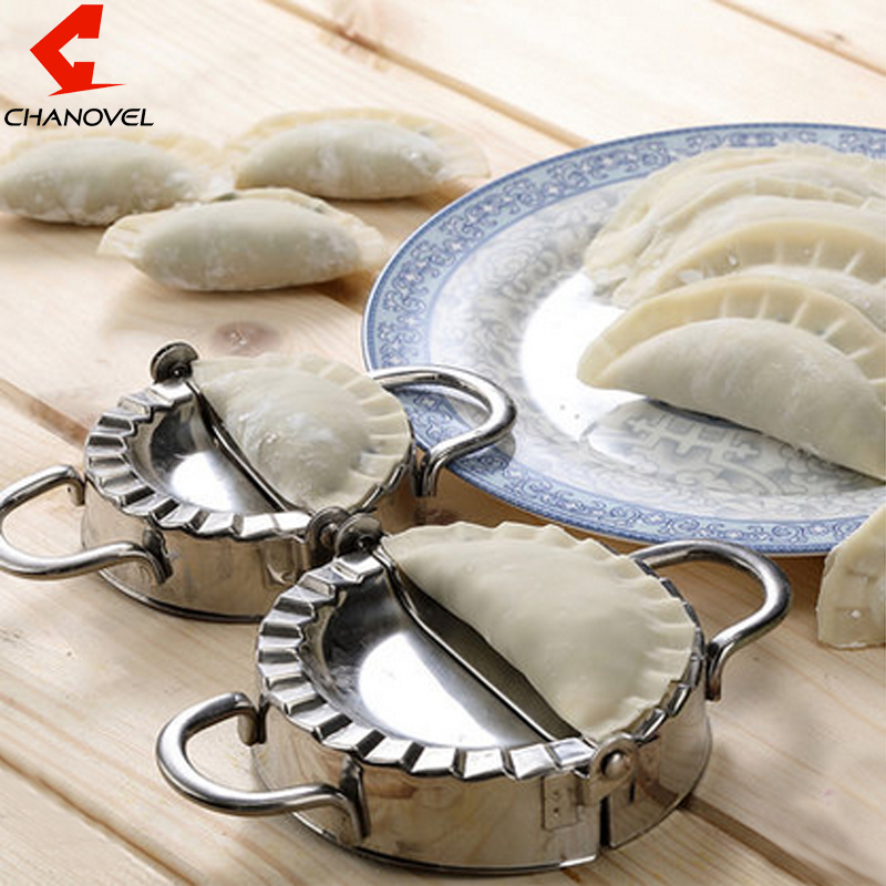 New Pastry Tools 304 Stainless Steel Dumpling Maker Wraper Dough Cutter Pie Ravioli Dumpling Mould Kitchen Accessories