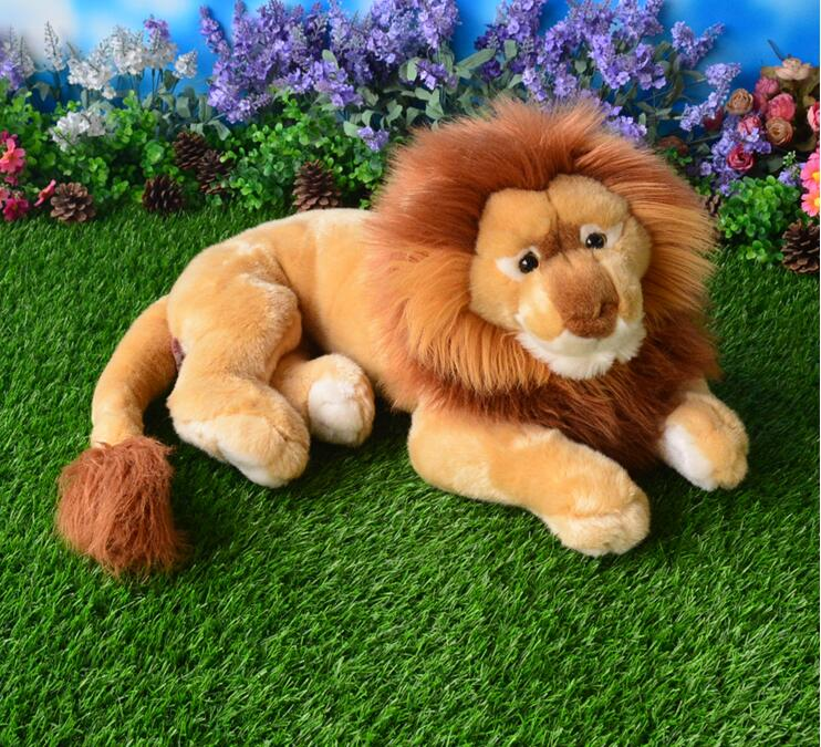 Large Toy  Plush  Doll  African Lion  Stuffed Toys  Simulation Animals  Children Pillow  Gift stuffed wild doll toys african wolf spotted hyenas simulation animals plush toy children dolls rare