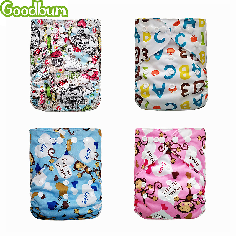 Goodbum Newborn Cloth Diaper Baby Nappies Washable Reusable Waterproof Diapers Snap Fastener Training Pants BabyNew 1 Piece 2020