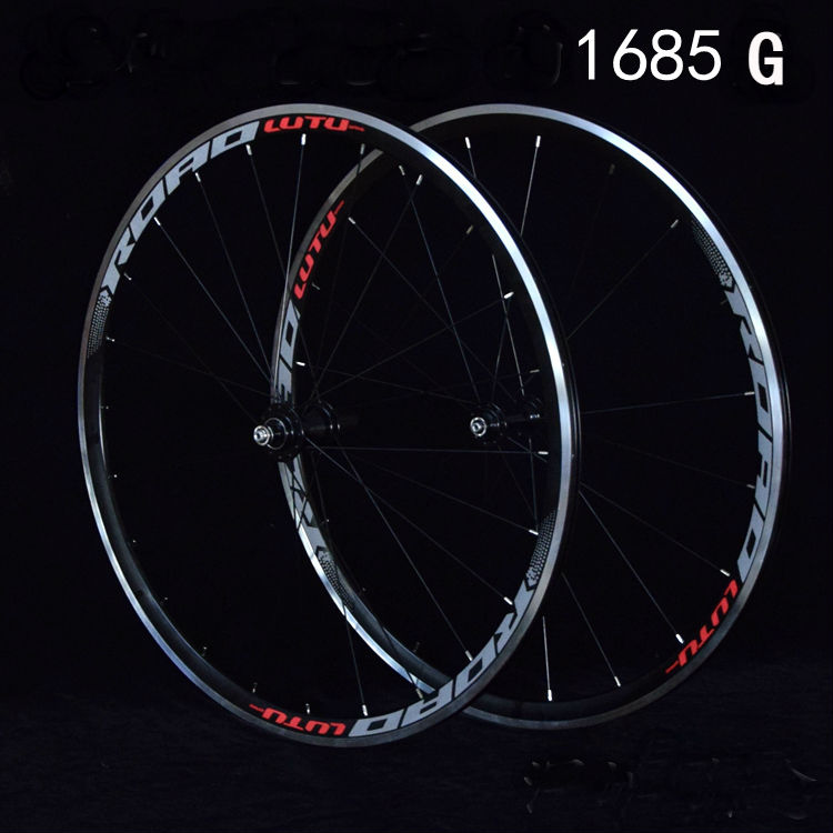 NEW lutu Reflector logo 2018 HOT sale 700C Alloy V Brake Wheels Road Bicycle Wheel Aluminium Road Wheelset Bicycle Wheels 26 bicycle wheel v brake road bike bearings wheelset 700c wheels 0902